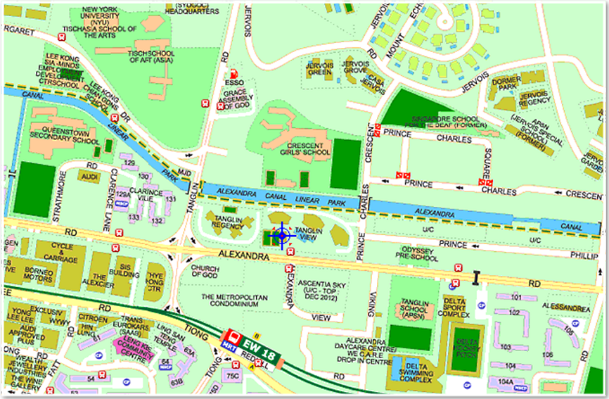 Map of Tanglin View